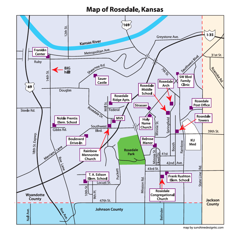 Map of Rosedale